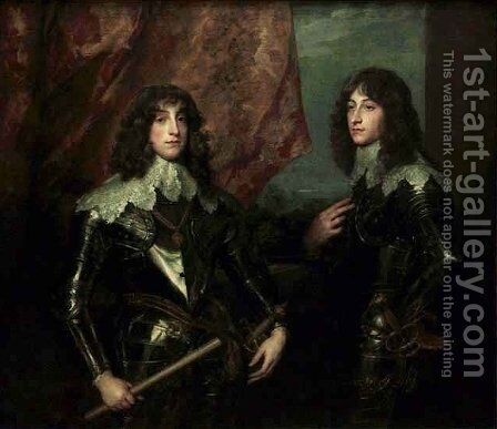 Portrait of the Palatine Princes Charles Louis I and His Brother Robert by Sir Anthony Van Dyck - Reproduction Oil Painting