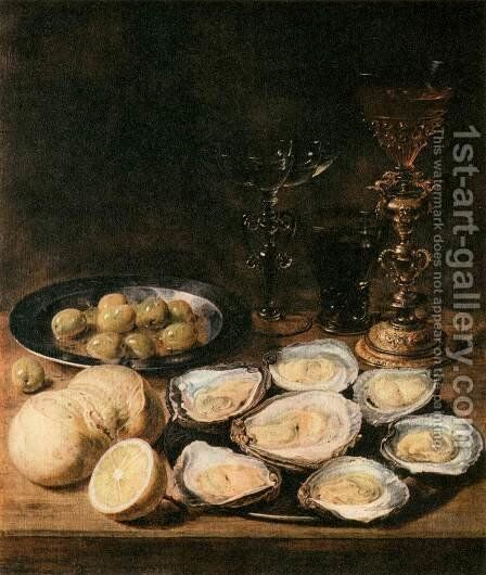 Still-Life with Oysters by Alexander Adriaenssen - Reproduction Oil Painting
