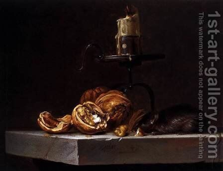 Still-Life with Mouse and Candle by Willem Van Aelst - Reproduction Oil Painting