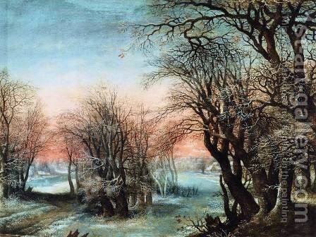 Winter Landscape by Denys Van Alsloot - Reproduction Oil Painting