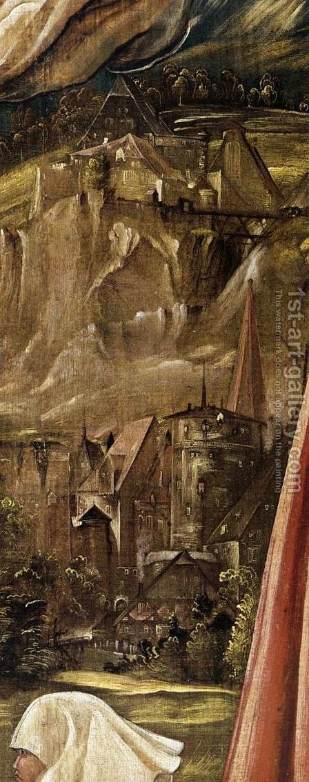 Christ on the Cross between Mary and St John (detail) by Albrecht Altdorfer - Reproduction Oil Painting