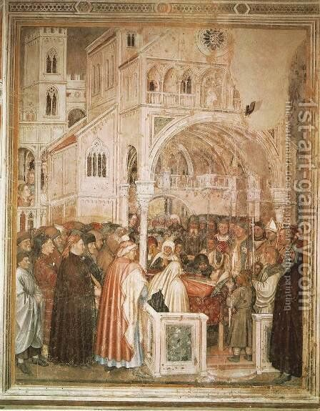 Death of St Lucy 2 by Altichiero da Zevio - Reproduction Oil Painting