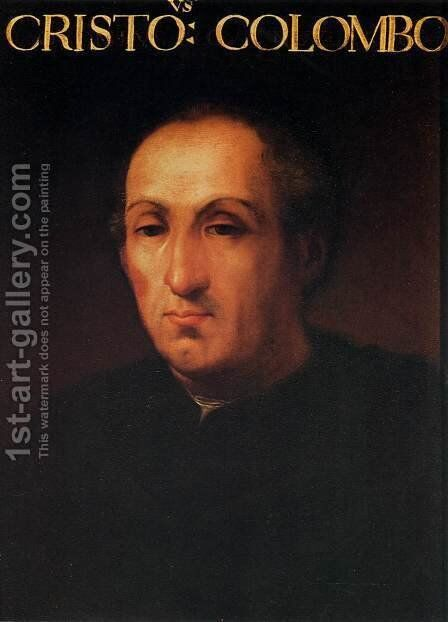 Portrait of Christopher Columbus by Cristofano dell' Altissimo - Reproduction Oil Painting