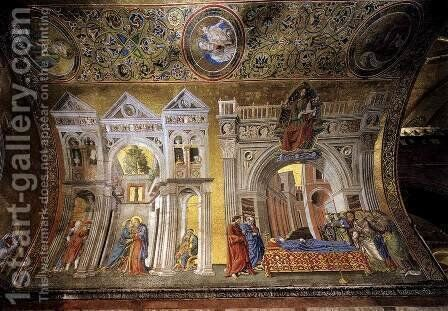 Dormition of the Virgin by Andrea Del Castagno - Reproduction Oil Painting