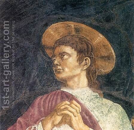 Crucifixion (detail) by Andrea Del Castagno - Reproduction Oil Painting
