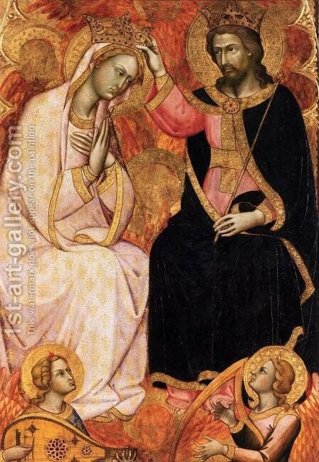 Coronation of the Virgin by Andrea Di Bartolo - Reproduction Oil Painting