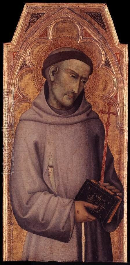 St Francis of Assisi by di Vanni d'Andrea Andrea - Reproduction Oil Painting