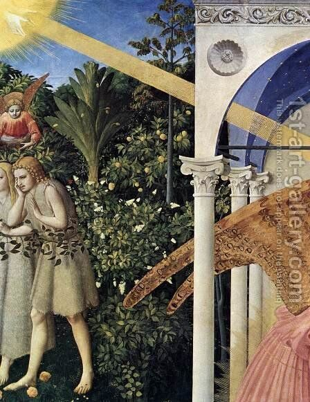 The Annunciation (detail) by Angelico Fra - Reproduction Oil Painting