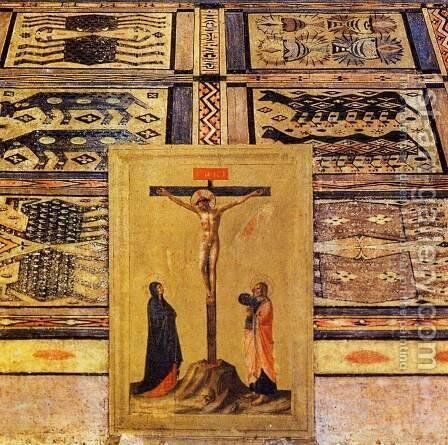 San Marco Altarpiece (detail) by Angelico Fra - Reproduction Oil Painting