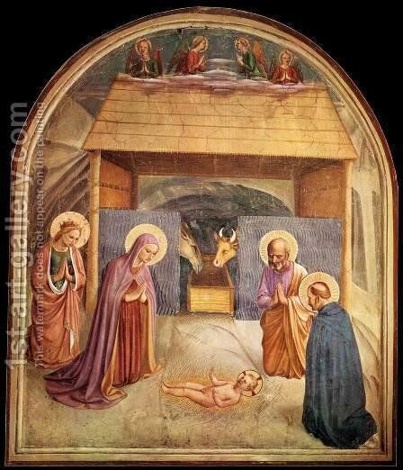 Nativity by Angelico Fra - Reproduction Oil Painting