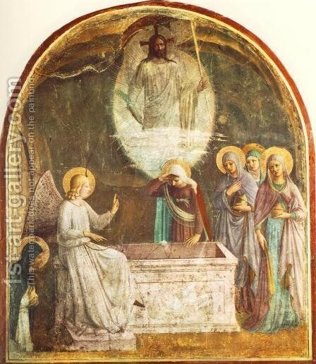 Resurrection of Christ and Women at the Tomb 2 by Angelico Fra - Reproduction Oil Painting