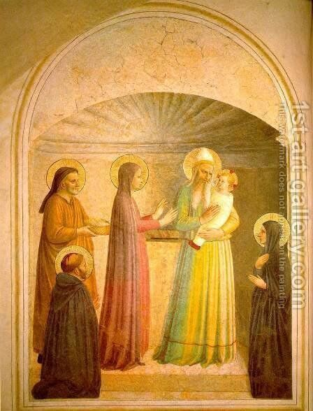 Presentation of Jesus in the Temple 2 by Angelico Fra - Reproduction Oil Painting