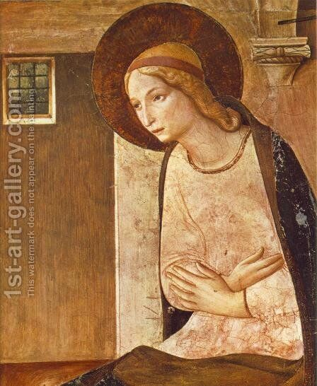 The Annunciation (detail) 2 by Angelico Fra - Reproduction Oil Painting