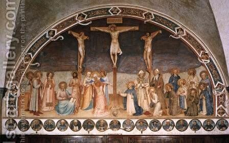 Crucifixion and Saints 2 by Angelico Fra - Reproduction Oil Painting