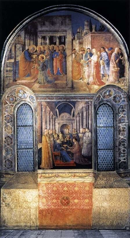 West wall of the chapel by Angelico Fra - Reproduction Oil Painting