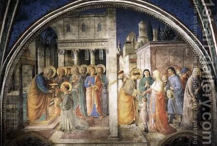 Lunette of the west wall by Angelico Fra - Reproduction Oil Painting
