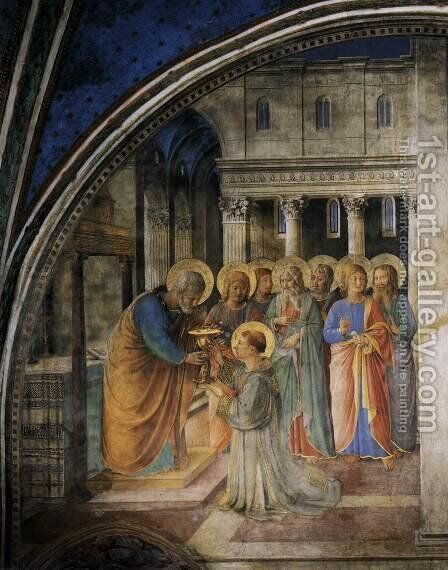 St Peter Consacrates Stephen as Deacon by Angelico Fra - Reproduction Oil Painting