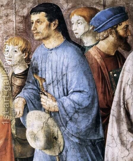 St Stephen Distributing Alms (detail) by Angelico Fra - Reproduction Oil Painting