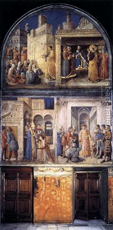 North wall of the chapel by Angelico Fra - Reproduction Oil Painting