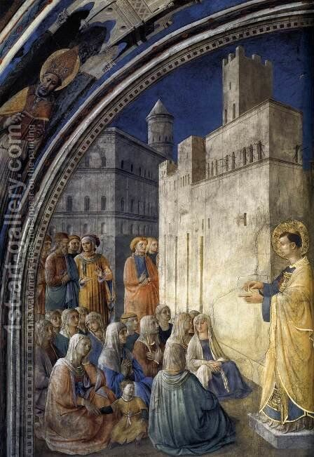The Sermon of St Stephen by Angelico Fra - Reproduction Oil Painting