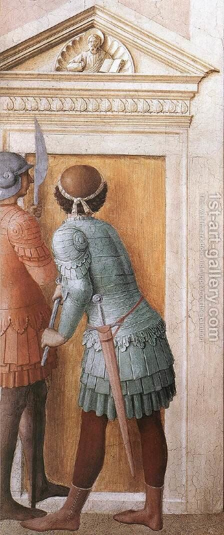St Lawrence Receives the Treasures of the Church (detail) 2 by Angelico Fra - Reproduction Oil Painting