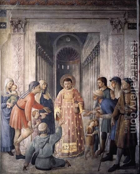 St Lawrence Distributing Alms by Angelico Fra - Reproduction Oil Painting