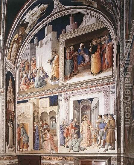 Scenes from the Lives of Sts Lawrence and Stephen by Angelico Fra - Reproduction Oil Painting