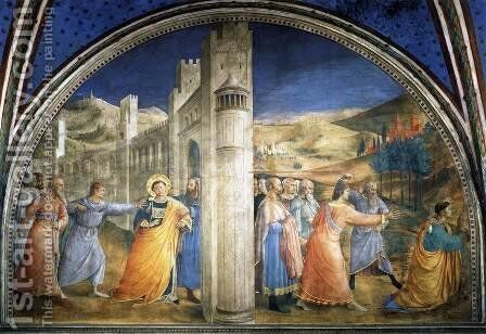 Lunette of the east wall by Angelico Fra - Reproduction Oil Painting