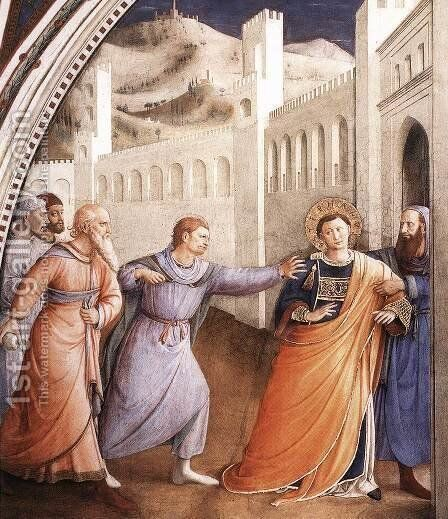 St Stephen Being Led to his Martyrdom by Angelico Fra - Reproduction Oil Painting