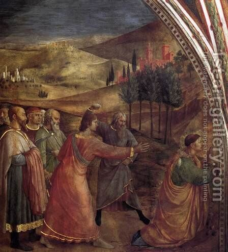 The Stoning of St Stephen 2 by Angelico Fra - Reproduction Oil Painting
