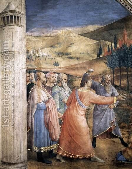The Stoning of St Stephen (detail) by Angelico Fra - Reproduction Oil Painting