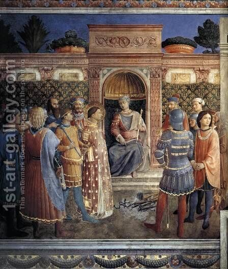 Condemnation of St Lawrence by the Emperor Valerian by Angelico Fra - Reproduction Oil Painting