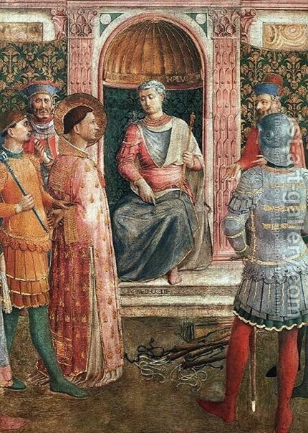 St Lawrence on Trial (detail) by Angelico Fra - Reproduction Oil Painting