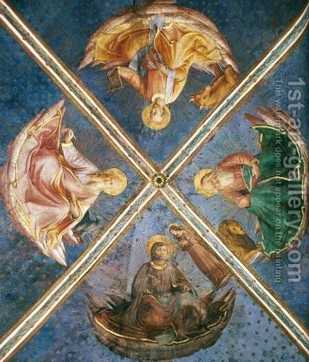 View of the chapel vaulting by Angelico Fra - Reproduction Oil Painting