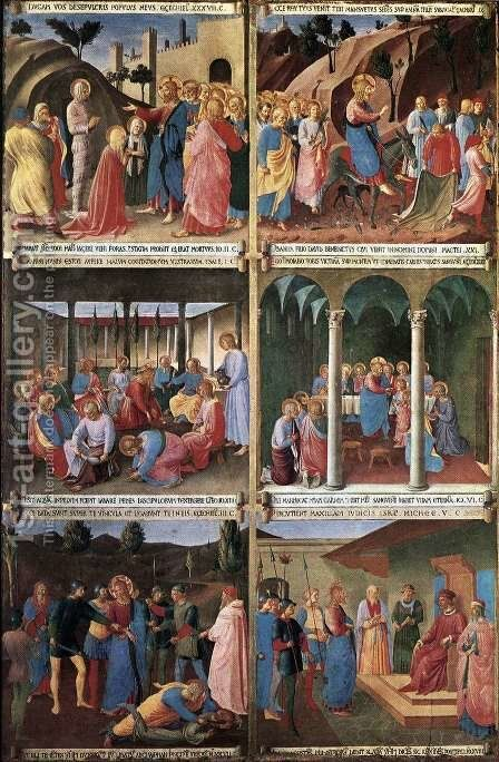 Paintings for the Armadio degli Argenti by Angelico Fra - Reproduction Oil Painting