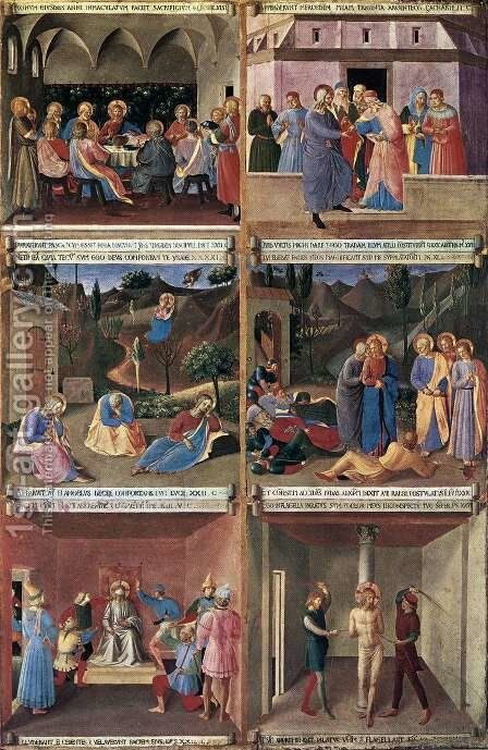 Paintings for the Armadio degli Argenti 2 by Angelico Fra - Reproduction Oil Painting