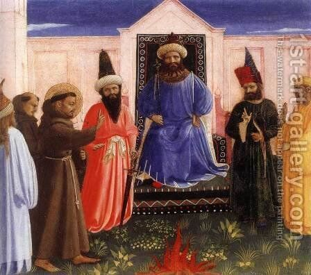 Trial by Fire by Angelico Fra - Reproduction Oil Painting