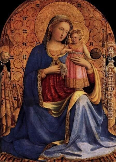 Madonna and Child 2 by Angelico Fra - Reproduction Oil Painting