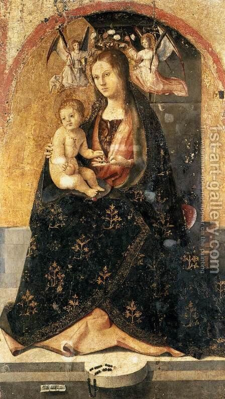 Madonna and Child 2 by Antonello da Messina Messina - Reproduction Oil Painting