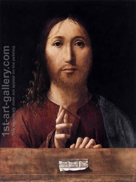 Salvator Mundi 2 by Antonello da Messina Messina - Reproduction Oil Painting