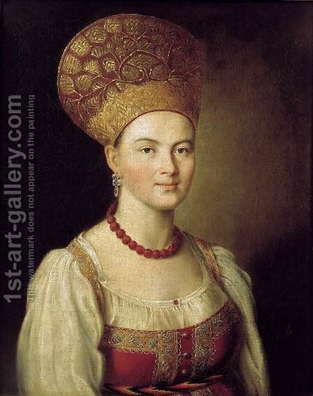 Portrait of an Unknown Peasant by Ivan Petrovich Argunov - Reproduction Oil Painting