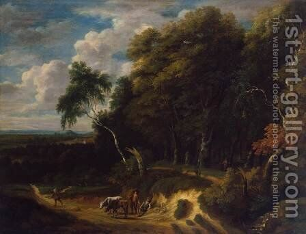 Landscape with a Herd by Jacques d' Arthois - Reproduction Oil Painting