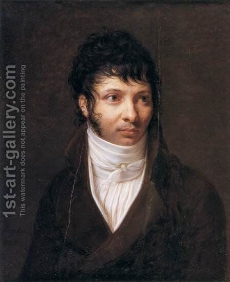 Portrait of the Sculptor Callamard by Jacques-Jean- Baptiste Augustin - Reproduction Oil Painting