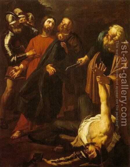 The Capture of Christ with the Malchus Episode by Dirck Van Baburen - Reproduction Oil Painting