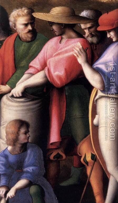 Scenes from the Story of Joseph The Search for the Cup (detail) by (circle of) Ubertini, (Bacchiacca) - Reproduction Oil Painting