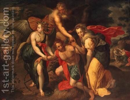 Allegory of the Three Ages of Man by Jacob De Backer - Reproduction Oil Painting