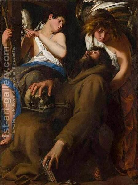 The Ecstasy of St Francis by Giovanni Baglione - Reproduction Oil Painting
