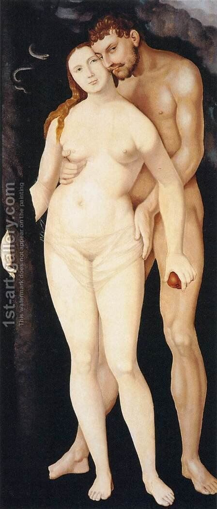 Adam and Eve 2 by Hans Baldung  Grien - Reproduction Oil Painting