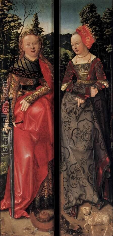 Three Kings Altarpiece (closed) by Hans Baldung  Grien - Reproduction Oil Painting