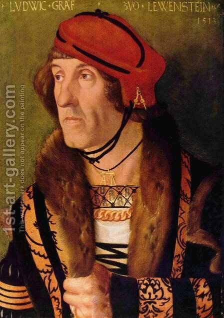 Ludwig, Count von Lowenstein by Hans Baldung  Grien - Reproduction Oil Painting